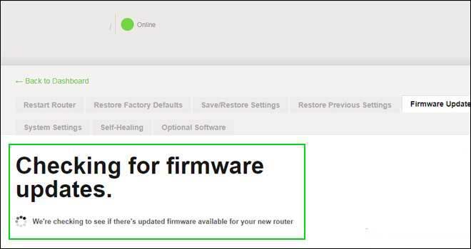 check for firmware updates