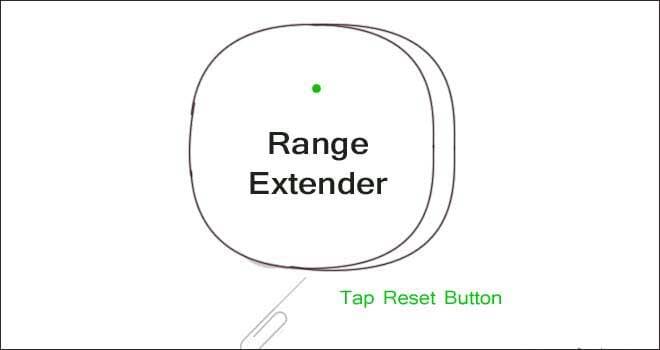 Reset Belkin range ext r
